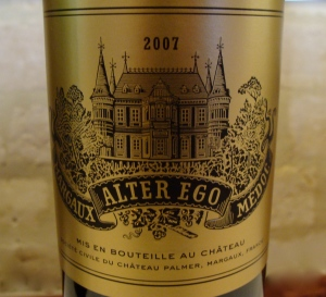 second wine of the Chateau Palmer the Alter Ego 2002