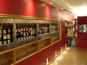 Enomatic machines at Selfridges' Wonder Bar