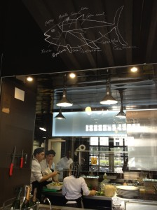 The open kitchen at La Bulla tapas in Seville