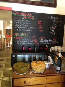 "The ""wine corner"" at La Bulla tapas and restaurant in Seville"