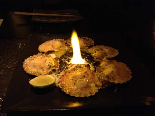 Scallops on the fire