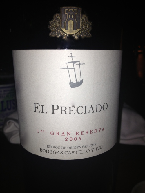 El Preciado red wine