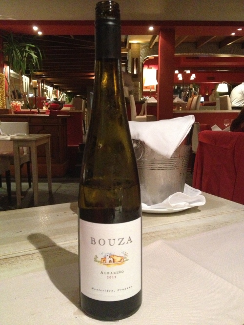 Bouza white Albariño wine from Uruguay