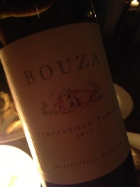 Bouza red blend of Tempranillo and Tannat from Uruguay
