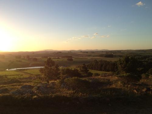 Sunset from the vineyards of Alto de la Ballena