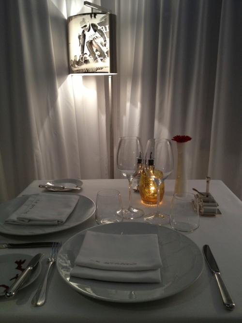 Dining table at Le Strato