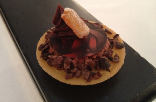 Chocolate creation in les petit fours