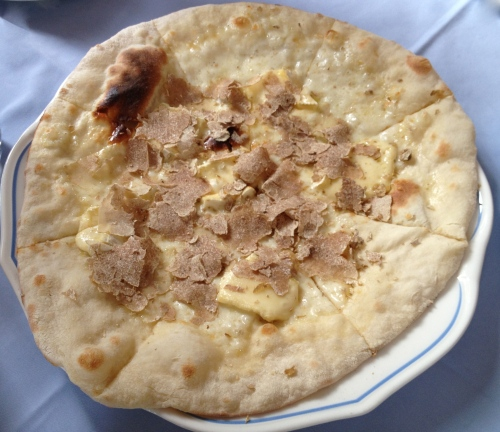 White truffle pizza
