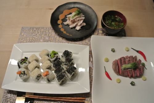 Japanese four-course dinner