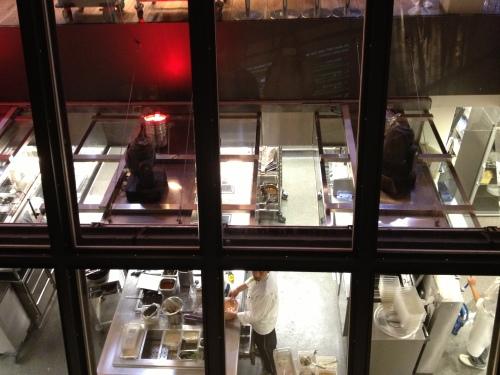 Hiltl's open kitchen concept