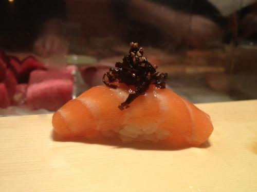 Seaweed & salmon sushi omakase