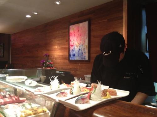 Chef at the sushi bar