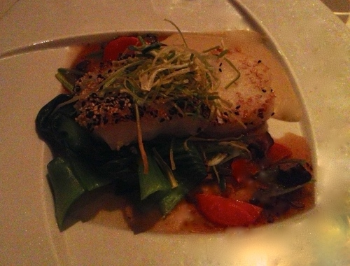 Sesame Crusted Sea Bass