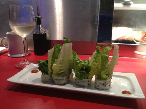 Creative sushi roll at Wá