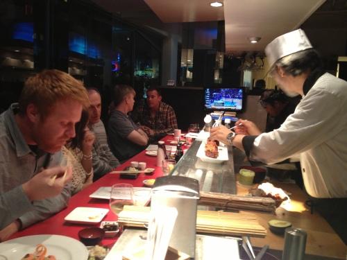 Wa sushi counter
