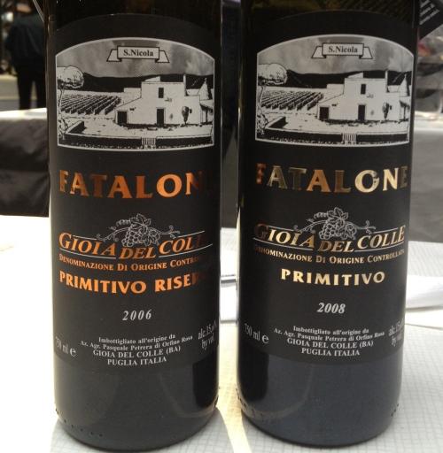 Pure Primitivo wine from Fatalone in Puglia
