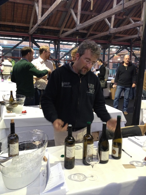 One of the genuinely friendly wine producers at the Real Wine Fair