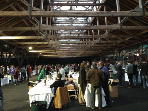 The Real Wine Fair at Tobacco Dock in London