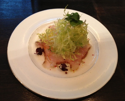 White fish sashimi salad