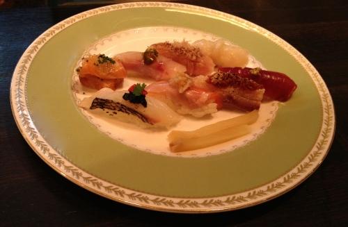 Omakase sushi at Yashin