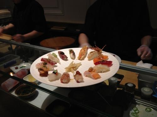Large omakase sushi platter