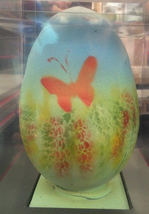 Hand-painted chocolate egg at the Chocolate Festival in London