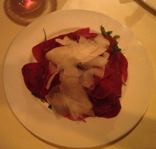 Bresaola with parmigiano