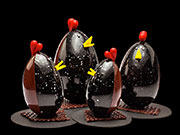 Patrick Roger: Easter chocolate cocks