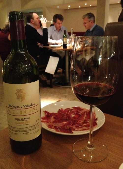 Ribera del Duero with jamon