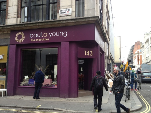 Paul a Young flagship store in Soho